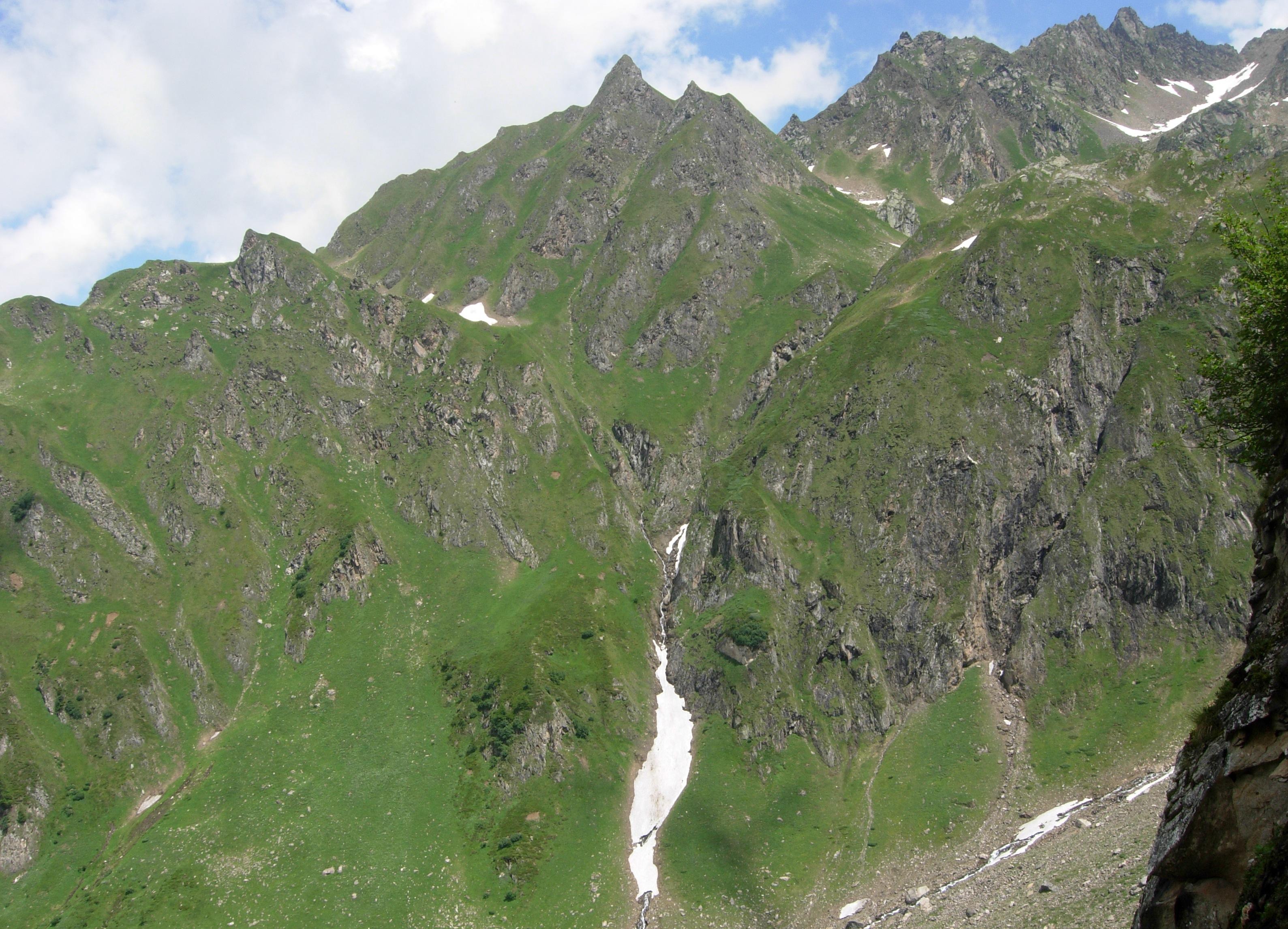 Vista sulla parte sinistra della valle
