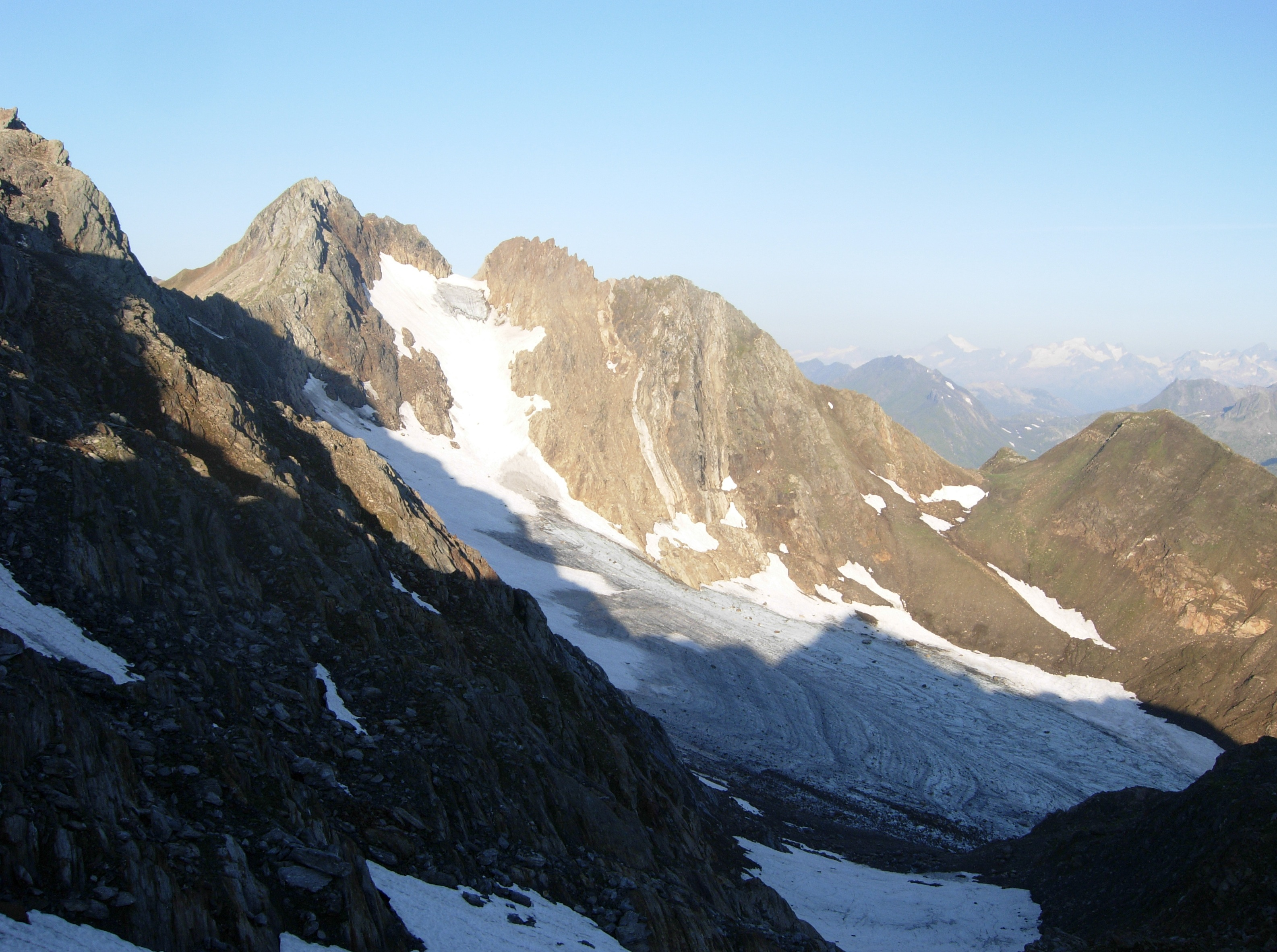 Poncione di Valleggia e ghiacciaio